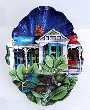 Hand made pottery, ceramic tiles, bowls, sculptures from New Zealand